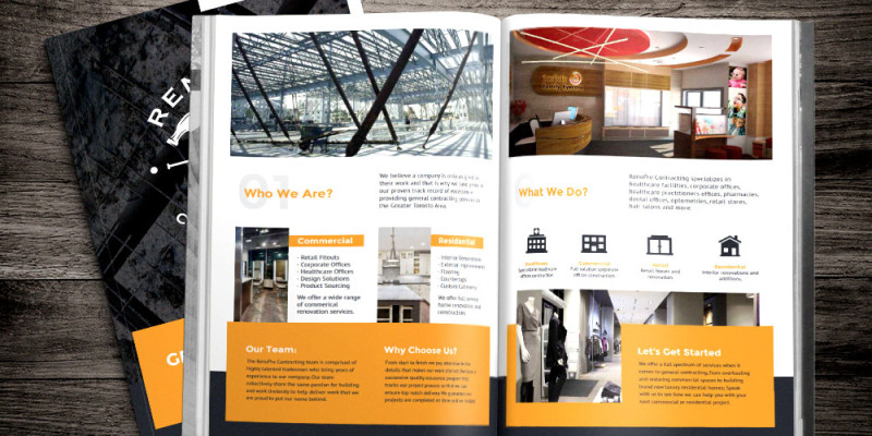 Services Brochure (Mockup 1) - RenoPro Contracting - General Contractor Toronto