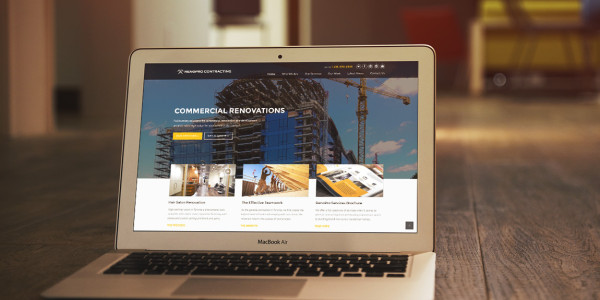 RenoPro Contracting Website (Screenshot) - General Contractor Toronto